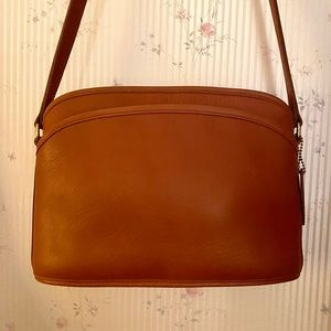 Vintage Tan Leather Coach Purse PERFECT CONDITION